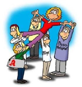 Bild: 23. Brühler Gesundheitsforum - Humor hilft heilen - Dr. med. Axel Sutter mit karindrawings im Gespräch