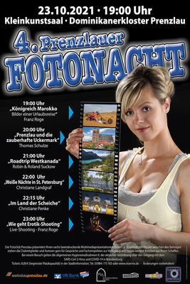 Bild: 4. Prenzlauer Fotonacht - Fotoclub Prenzlau