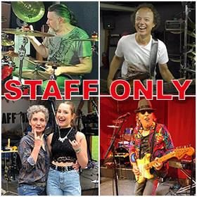 Bild: Rock-Cover-Band Staff only im ASB-Bahnhof Barsinghausen - Gut gecoverter Rock ist ein Markenzeichen der Band