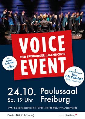 Bild: Jahreskonzert von Voice Event - der Freiburger Jugendchor - Mit Special Guests Tine Fris-Ronsfeld, Julian Knörzer und TONG