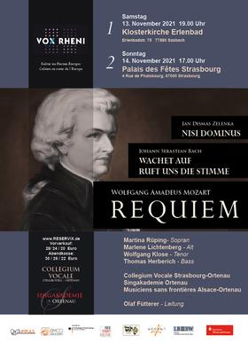 Bild: Requiem - Mozart/ Zelenka - Nisi Dominus/  Bach - Wachet auf ruft uns die Stimme - Requiem - Mozart/ Zelenka - Nisi Dominus/  Bach - Wachet auf ruft uns die Stimme