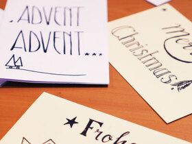 Bild: Handlettering Weihnachtskarten