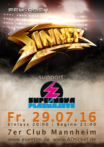 Bild: SINNER + support: Supernova Plasmajets - German Hard Rock - One Night - Two Generations