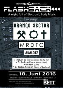 ORANGE SECTOR, MRDTC, AKALOTZ - & RETURN TO THE CLASSIXX Party!