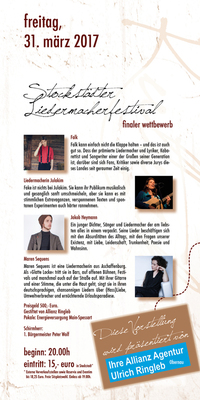 Bild: Stockstädter Liedermacherfestival - >>Finale 2017<<