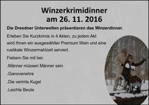 WINZER-KRIMI-DINNER - Winzer - KRIMI - Dinner