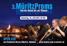 Bild: 3. MüritzProms - Von der Donau bis zu Themse - Beliebte klassische Melodien von Franz Lehár, Johann Strauß, Emmerich Kálmán u.v.a.,