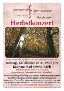 Herbstkonzert - Mit Studierenden und Absolventen der Internationalen Opernakademie Bad Schwalbach