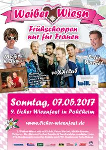 Bild: 9. Licher Wiesnfest in Pohlheim 2017 - Weiber-Wiesn|Frühschoppen nur für Frauen| voXXclub, Mickie Krause, Peter Wackel, Victoria
