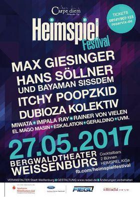 Bild: Heimspiel-Festival - Max Giesinger, Hans Söllner uvm. ...