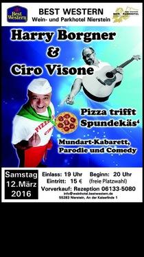 Bild: Harry Borgner und Ciro Visione - Pizza trifft Spundekäs