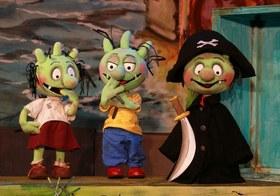 Bild: Die Olchis und der schwarze Pirat - Theatererlebnis der Kammerpuppenspiele Bielefeld
