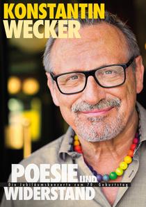 """Bild: Konstantin Wecker - """" Poesie und Widerstand - die Jubiläumskonzerte 2017 """""""