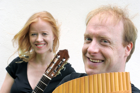 Bild: Virtuose Panflöte - Panflöte und Gitarre (Schlubeck/Beneke)