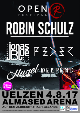 Bild: OPEN R FESTIVAL 2017 - Club & House - Robin Schulz, Feder, Jonas Blue, Hugel, Deepend