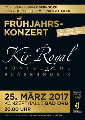 Bild: Kir Royal - Königliche Bläsermusik - Konzert des Musikverein 1964 Oberndorf & des Jugendorchesters Meerholz-Hailer