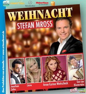 Bild: Weihnacht mit Stefan Mross - Schlager/Volksmusik mit Anna-Carina Woitschack, Liane, Geri-Klostertaler, Jonathan Zelter