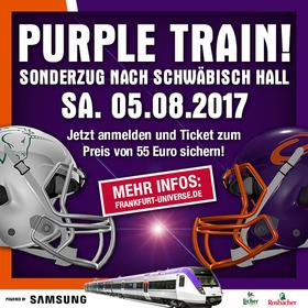 Bild: Purple Train - Sonderzug nach Schwäbisch Hall