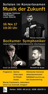 Bild: Internationale Sinfoniekonzerte Oberhausen - Musik der Zukunft - Bochumer Symphoniker