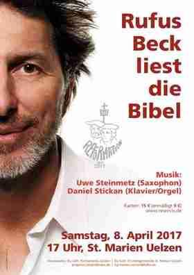 Bild: Rufus Beck liest die Bibel - Lesung mit Musik