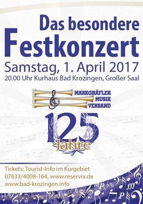 Bild: Festkonzert 125 Jahre Markgräfler Musikverband