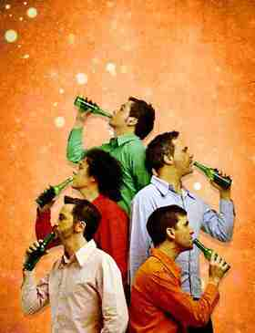 Bild: Das GlasBlasSing Quintett - Süßer die Flaschen nie klingen