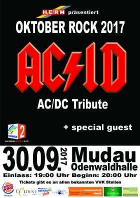 Bild: Oktober Rock Mudau 2017 - u.a. mit AC/ID - AC/DC Tribute