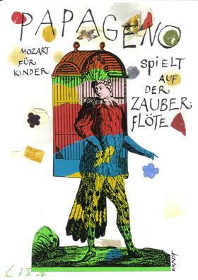 Bild: PAPAGENO spielt auf der Zauberflöte - Mozart für Kinder