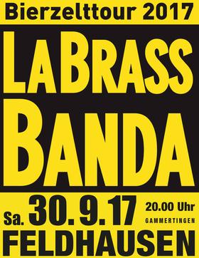 Bild: LaBrassBanda - Bierzelttour 2017