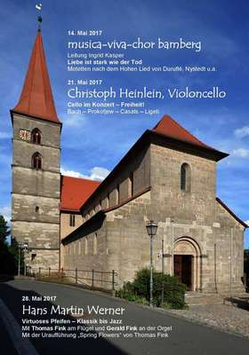 Bild: Münchauracher Klosterfrühling - Hans Werner Martin mit Thomas Fink (Flügel) und Gerald Fink (Orgel)