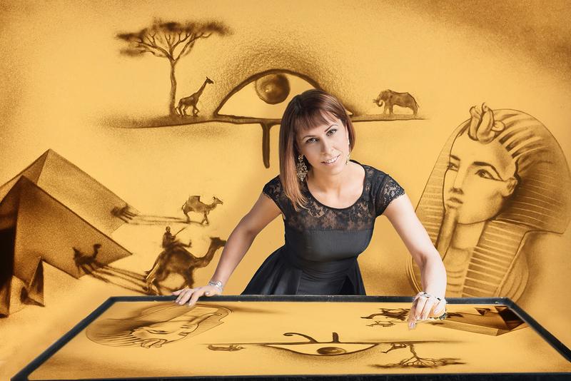 Sandmalerei-Show - Fantasy World
