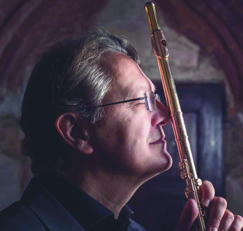 Giuseppe Nova – Flöte und Elena Piva – Harfe