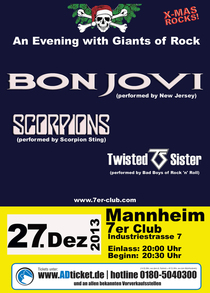 X-MAS Rock Mannheim - Bon Jovi Tribute | Scorpions Tribute | Twisted Sister Tribute