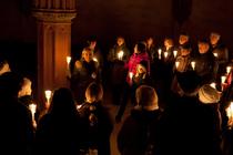 Bild: Kerzenführung im Kloster Eberbach