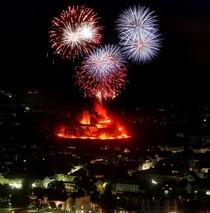 Bild: Abendfahrt zum Musik-Prachtfeuerwerk Burg Klopp