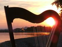 Bild: Harfe-Fahrt mit dem Solarschiff Helio - Vom Klang berührt