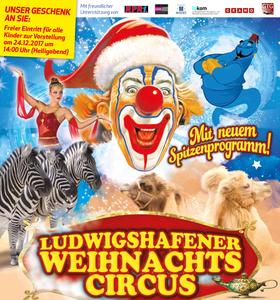 Bild: Ludwigshafener Weihnachtscircus - mit neuem Spitzen-Programm - FAMILIENTAG