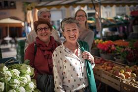 Bild: FREIBURGerLEBEN: Probiertour über den Freiburger Bauernmarkt rund ums Münster