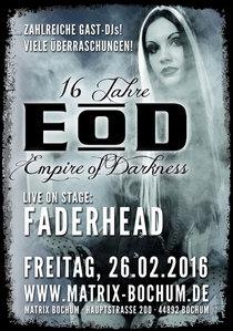 Bild: 16 JAHRE EOD - EMPIRE OF DARKNESS - LIVE ON STAGE: FADERHEAD
