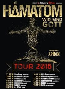 """Bild: HÄMATOM """"Wir sind Gott Tour 2016"""" - + special guest apRon"""