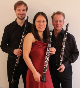 Bild: Klarinettentrio Schmuck - Sayaka Schmuck, Til Renner und Sebastian Pigorsch