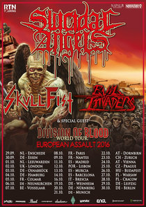 Suicidal Angels - + Evil Invaders + Skull Fist + Crisix