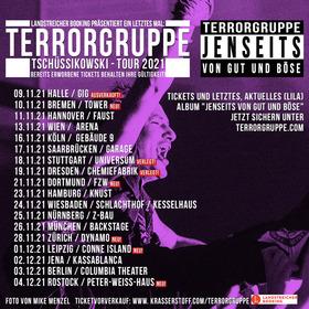 """TERRORGRUPPE """"Tschüssikowski-Tour 2021"""" - (Die Abschiedstournee)"""