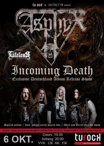 Asphyx - Incoming Death Record Record Release Show