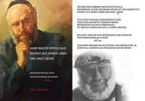 """Bild: """"Rabbi Rothschild erzählt aus seinem Leben und singt Lieder"""", Walter Rothschild"""