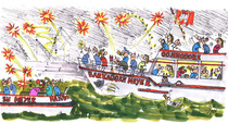 Bild: Feuerwerksfahrt zum Hafengeburtstag - 2 -stündige Fahrt