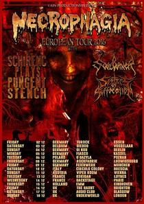 Necrophagia & Schirenic Plays Pungent Stench - European Tour 2016