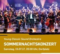 Bild: Young Classic Sound Orchestra - Sommernachtskonzert - Open Air auf dem Dorfplatz