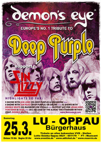 Bild: DEMON´S EYE - (More than just a tribute to Deep Purple)  &  SIN LIZZY