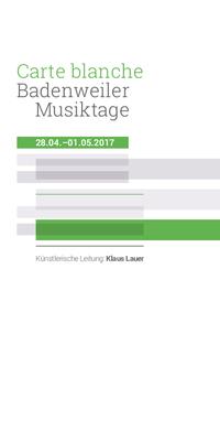 Bild: Badenweiler Musiktage Generalabonnement Frühjahr 2017